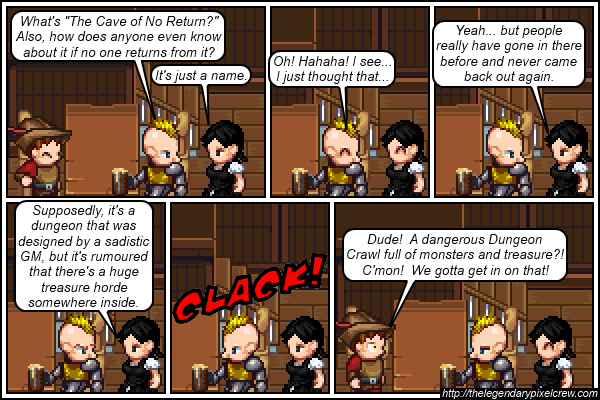 """Strip 270 - """"The usual call to adventure"""""""