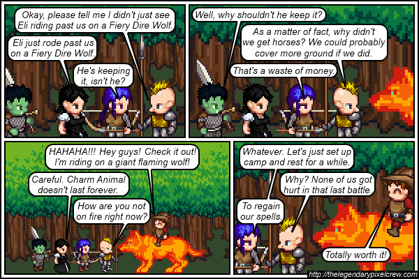 "Strip 285 - ""All the other Adventurers are doing it"""