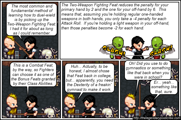 "Strip 388 - ""Two-Weapon Fighting part 2"""