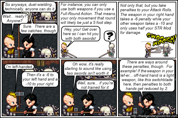 "Strip 387 - ""Two-Weapon Fighting part 1"""