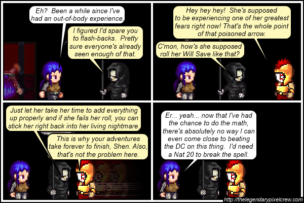 """Strip 408 - """"The Fear effect probably slows things down too, though"""""""