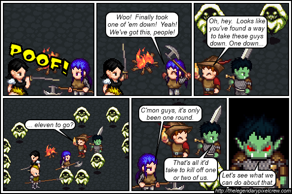 "Strip 423 - ""Remember, a CON of zero equals death"""