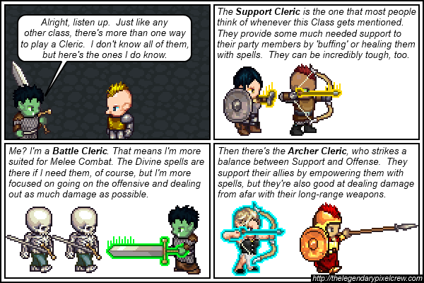 "Strip 441 - ""The many different types of Clerics Part 2"""