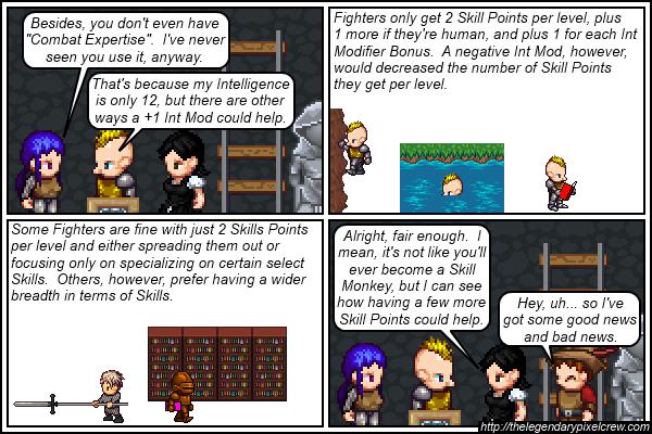 "Strip 489 - ""Skill Points per level"""