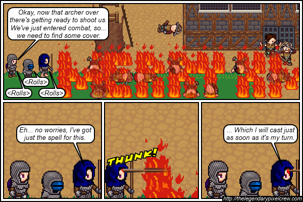 "Strip 588 - ""You should probably ditch the armor first"""