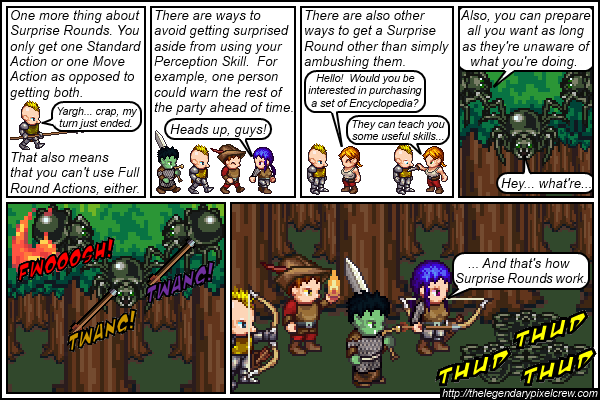 "Strip 039 - ""They slipped behind the trees for a second"""