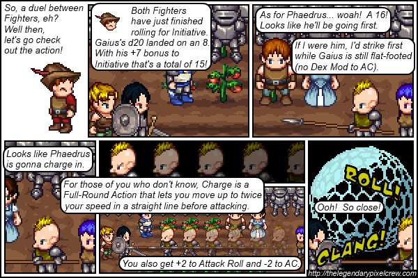 "Strip 101 - ""Phaedrus vs. Gaius - Round 1"""