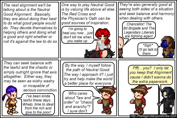 Strip 138 - Alignment Tutorial - Part 4 (NeutralGood)