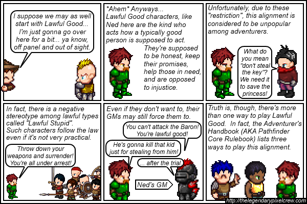 Strip 136 - Alignment Tutorial - Part 2 (Lawful Good)