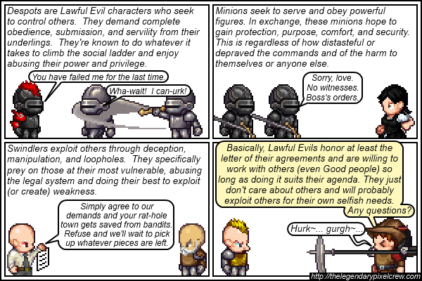 Strip 146 - Alignment Tutorial - Part 12 (Lawful Evil)