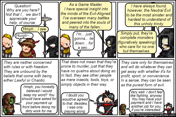Strip 147 - Alignment Tutorial - Part 13 (Neutral Evil)