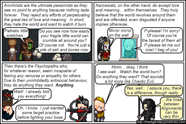 Strip 148 - Alignment Tutorial - Part 14 (Neutral Evil)