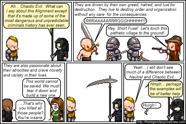 Strip 149 - Alignment Tutorial - Part 15 (Chaotic Evil)