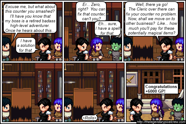 "Strip 159 - ""She kept the axe, by the way"""