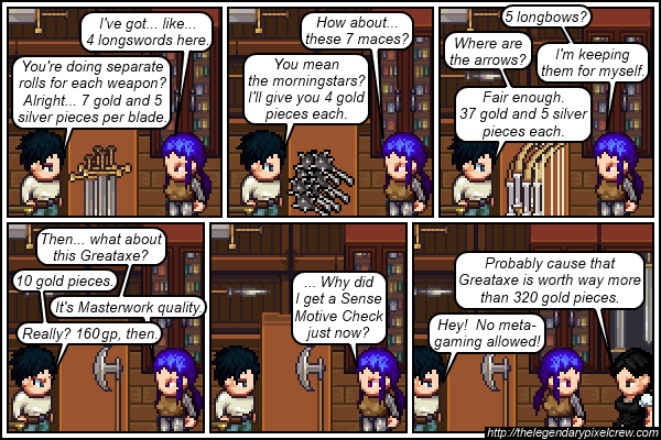 Strip 155 - I don't think that's how haggling works