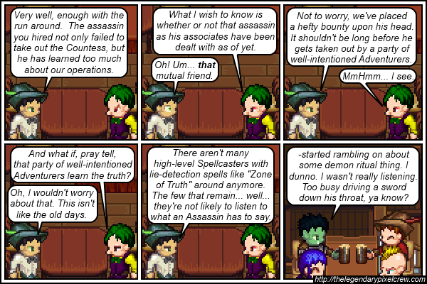 "Strip 203 - ""For our No Questions Asked service, look under Extra Options"""